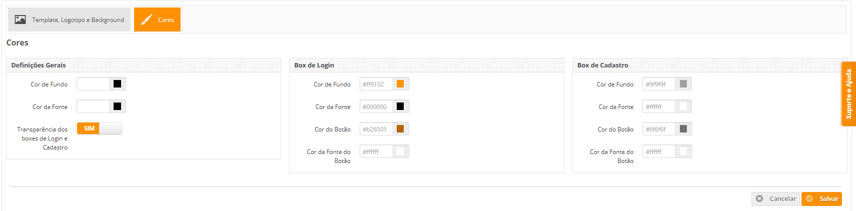 hotspot personalizado cores