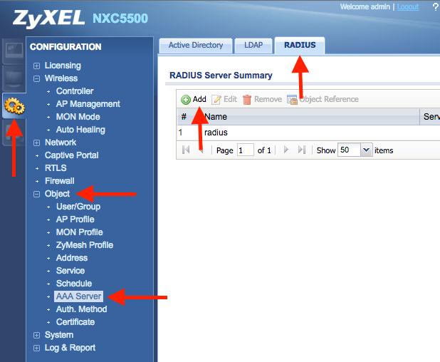ZyXEL – Configuração do WSpot