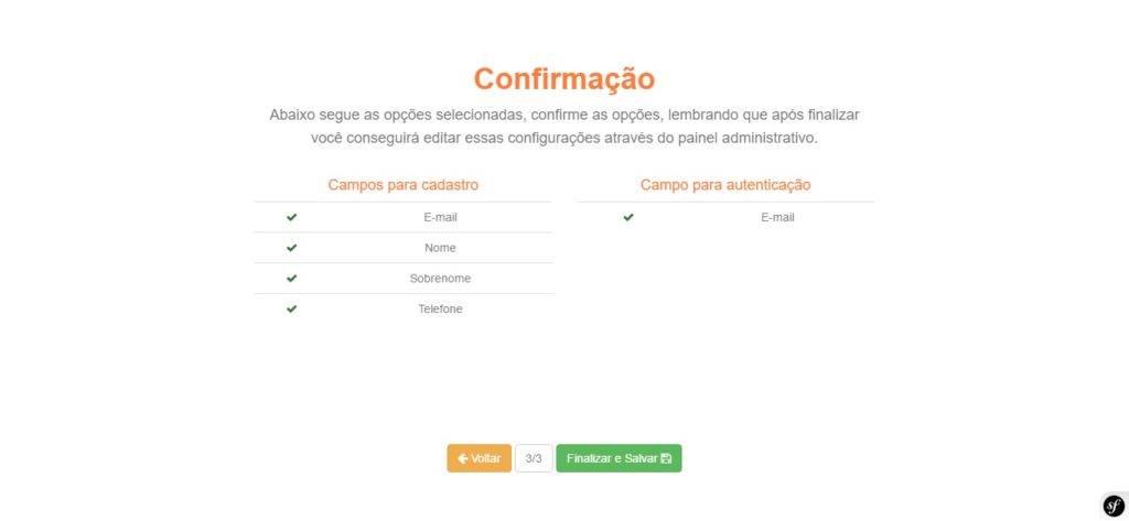 Customizar formulários - cadastro de clientes