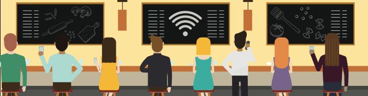Conquiste clientes para bares e restaurantes com Wi-Fi