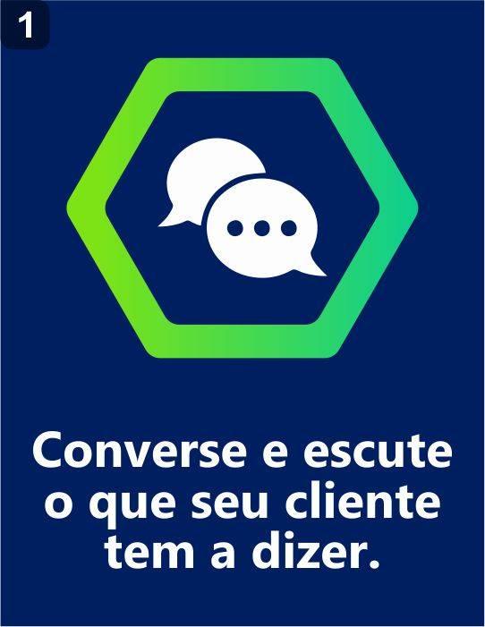 converse e escute seu cliente